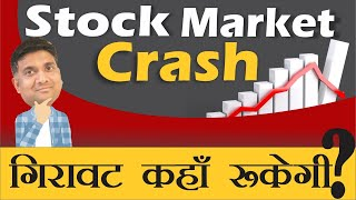 STOCK MARKET CRASH   गिरावट कहाँ रुकेगी   nifty analysis   bank nifty analysis