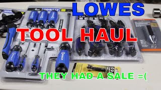 TOOL HAUL!! Lowe's had a sale on Kobalt hand tools..... =( tool haul November 2017