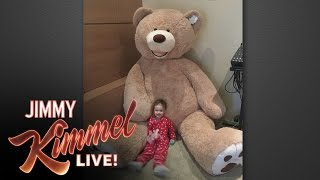 Jimmy Kimmel's Giant Stuffed Bear Revenge