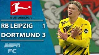 Erling Haaland and Jadon Sancho power Dortmund to win over Leipzig | ESPN FC Bundesliga Highlights
