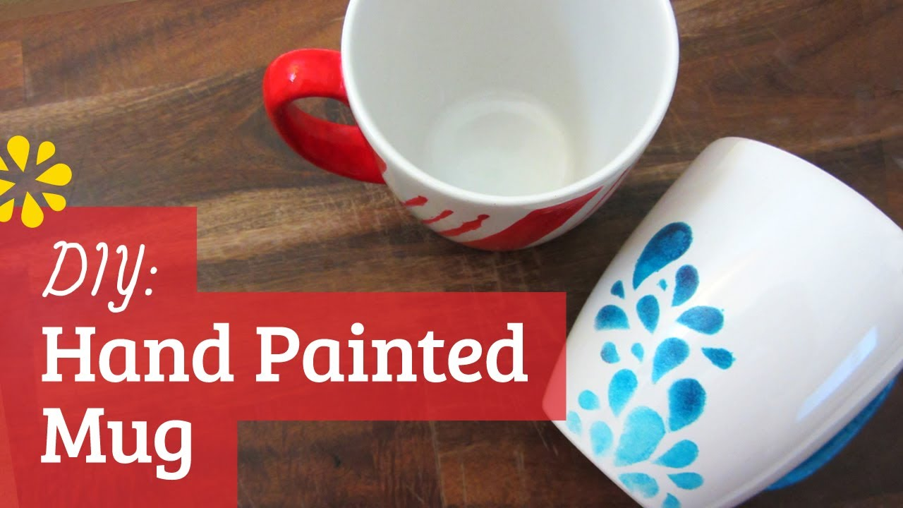 Diy Hand Painted Mug Youtube