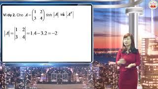 Toán cao cấp - Chương 1. Ma trận định thức hệ phương trình tuyến tính Phần 2 - GV Phạm Thị Bích Dung