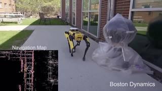 SpotMini takes a walk on it's own (Boston Dynamics)