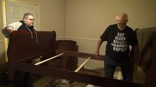 MOVING GRANDPA'S BED..