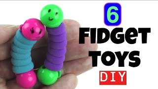 6 EASY DIYS - DIY FIDGET TOYS - NEW FIDGET TOYS TO MAKE FOR KIDS USING HOUSEHOLD MATERIALS -- TOYS