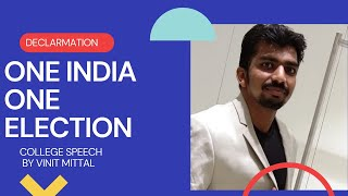 One India one election by edutainment video