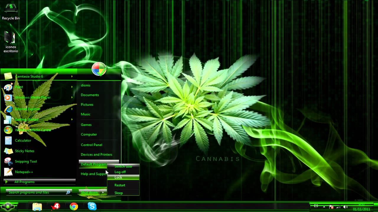 Tema Marihuana Para Windows 7