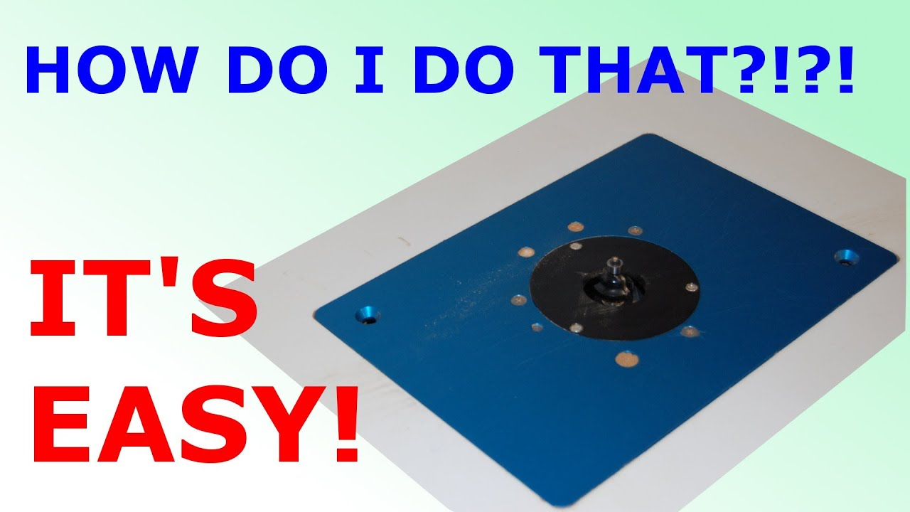 How To Install Router Plate In Table Youtube