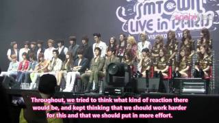 [2011] SOSHIFIED EXCLUSIVE: SMTOWN PARIS 2011 Press Conference
