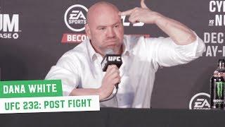 UFC 232 Post-Fight Press Conference: Dana White