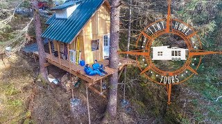 Off The Grid Alaskan Tiny House In A Treehouse ~ Land & Building For $35k