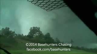 April 28, 2014 Large Louisville, Mississippi Tornado - Dashcam