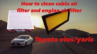 How to clean cabin filter & engine air filter for toyota yaris/vios.