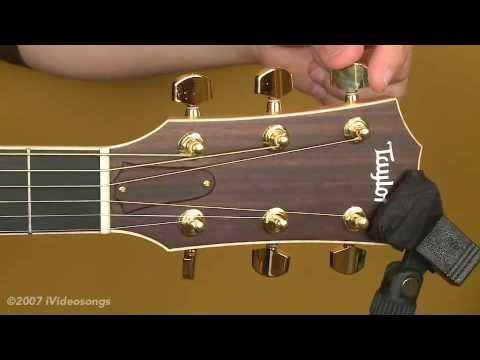 restringing an acoustic guitar youtube. Black Bedroom Furniture Sets. Home Design Ideas