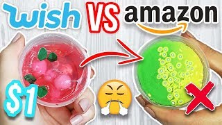 $1 WISH SLIME VS $1 AMAZON SLIME VS $1 ETSY SLIME! Which is Worth it?!?