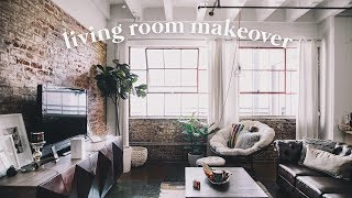LOFT LIVING ROOM MAKEOVER + TOUR - Downtown LA // Imdrewscott