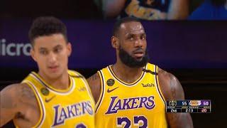 LAKERS vs NUGGETS - 1st Half Highlights | NBA Restart