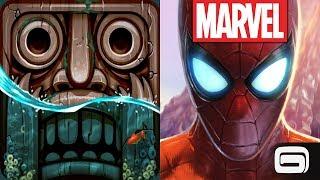Temple Run 2 Lost Jungle VS Spider Man Unlimited
