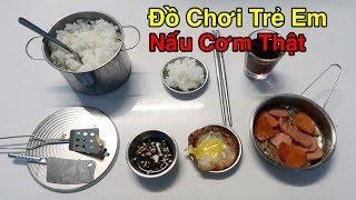 Lâm Vlog - Thử Nấu Cơm Thật Bằng Bộ Đồ Chơi Cho Trẻ Em Làm Từ Inox
