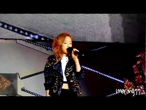[fancam] 20120609 SMT In Taiwan DJ Got Us Falling In Love Again Taeyeon by merong77