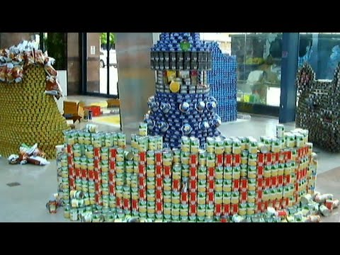 "Ausenco CANstruction entry 2015 ""Exterminate Hunger"""
