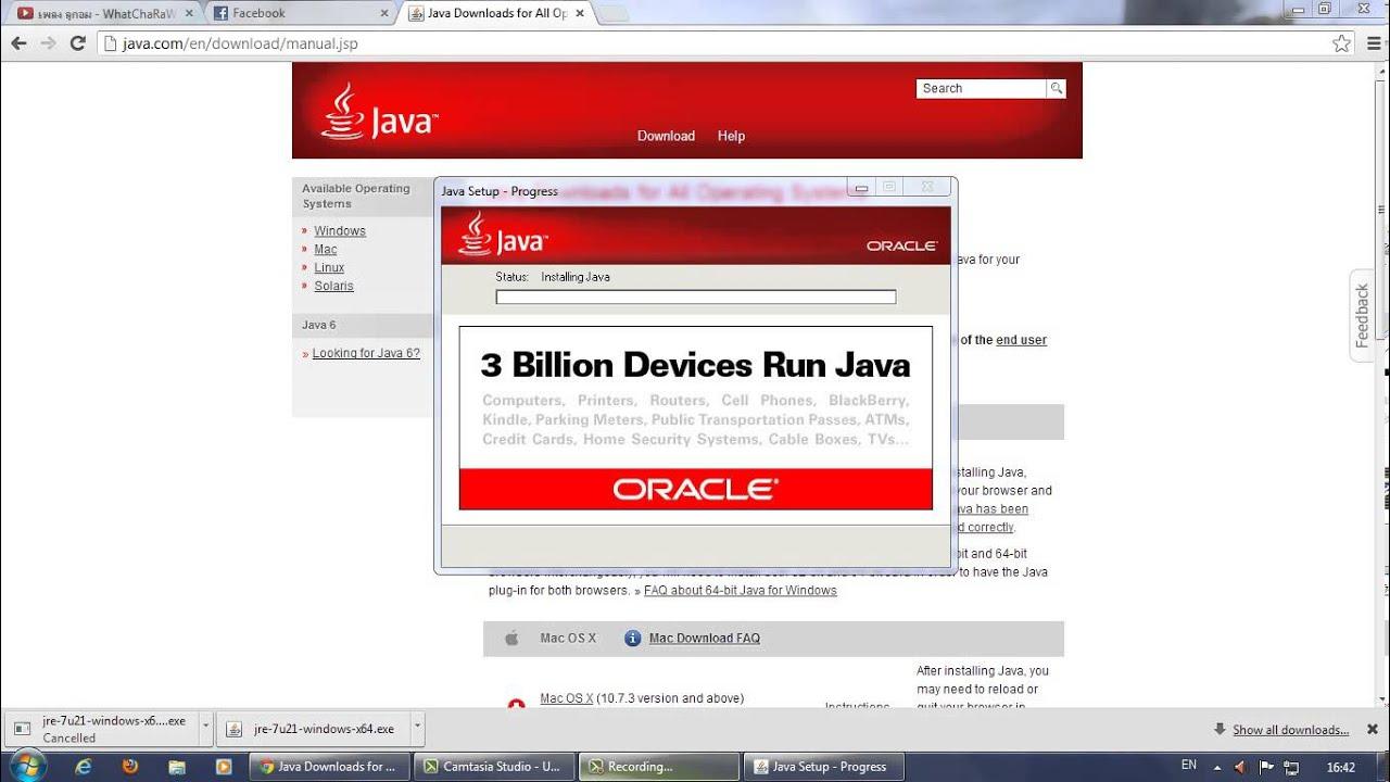 วิธีการดาวโหลด Java 64 bit ครับ - YouTube