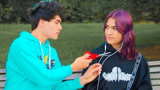 Cutting Peoples Earphones, Then Giving Them AirPods
