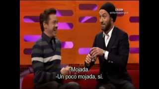 Robert Downey Jr. and Jude Law in the Graham Norton Show-Part1-subtitulado