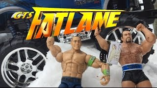 GTS WRESTLING: FAT LAME! WWE FastLane Wrestling Figures PPV Parody Animation Event! Mattel Elites!