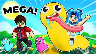 Becoming the BIGGEST MEGA Worm in Roblox!