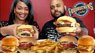 KOBE BEEF BURGERS FT: THE WORLDS BEST BURGERS! FUDDRUCKERS MUKBANG EATING SHOW!
