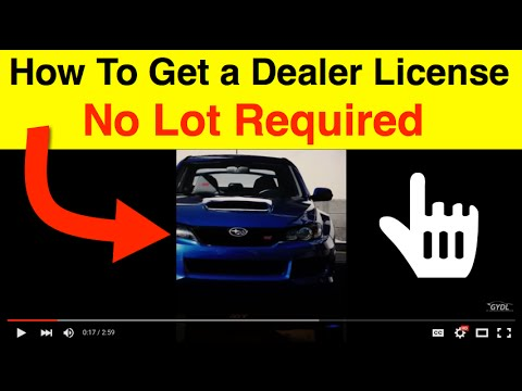 How to Get Your Used Car Dealers License Without a Car Lot!