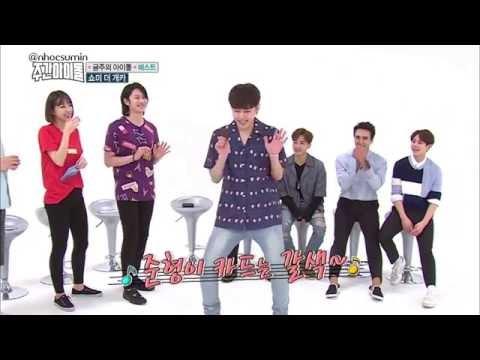 BEAST's Jun Hyung vs Hee Chul dance HYUNA's Bubble Pop, RED @ Weekly Idol EP 257
