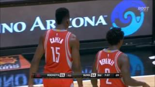Clint Capela dunks all over Brandon Knight