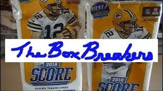 2018 NFL Score Trading Cards Live Pack Opening at the Card Shop 4 jumbo packs looking for PSA 10