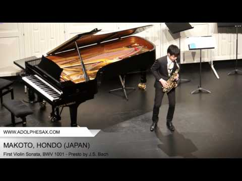 Dinant 2014- Makoto, Hondo - First Violin Sonata, BWV 1001 - Presto by J.S. Bach