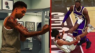 NBA 2K20 MyPlayer Attributes Update - FAKE 99s, LeBron DUNK on Coby & Tattoos