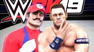 JUCAM WWE 2K19 CU IRAPHAHELL: SUPER MARIO VS JOHN CENA !