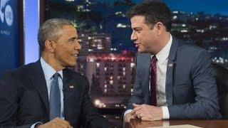 President Obama on Jimmy Kimmel Live! - Pop Culture President Promoting His Political Agenda Exposed