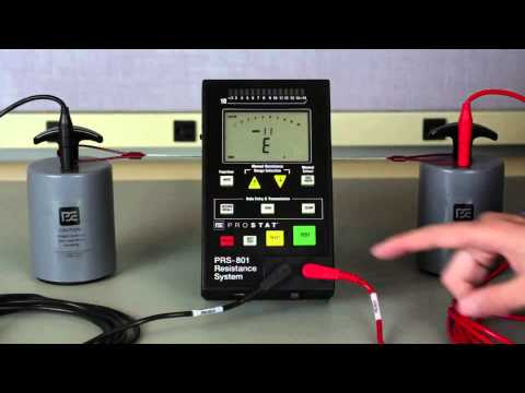 Measure the Resistance of a Worksurface per ANSI/ESD S4.1