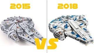 LEGO - 75212 Kessel Run Millennium  Falcon  VS 75105 Millennium Falcon - FIRST LOOK COMPARISON
