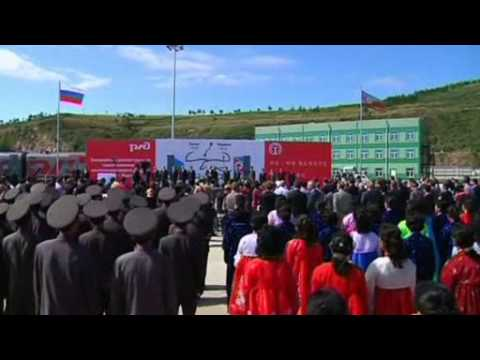 Из России в Северную Корею пришел первый поезд по реконструированной ветке