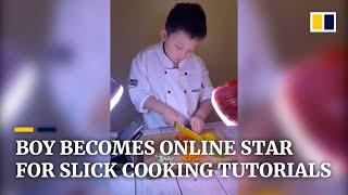 Boy's cooking tutorials shoot him to online stardom; 1 mil..