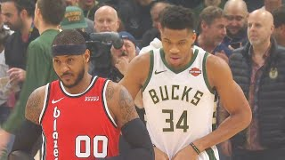 Carmelo Anthony Crazy Highlights vs Giannis & Shows He Belongs In The NBA! Trail Blazers vs Bucks