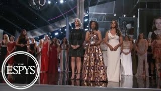 'Sister survivors' moment of solidarity accepting Arthur Ashe Courage Award | ESPYS 2018 | ESPN