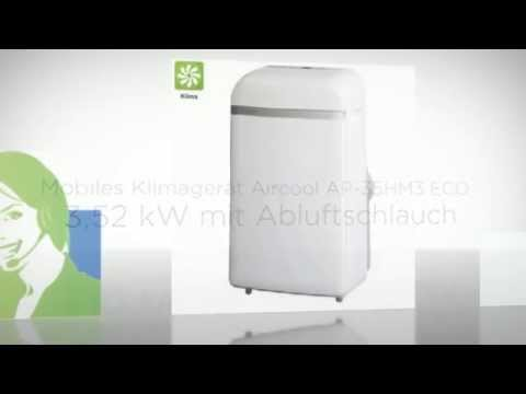 Mobiles Klimagerät Aircool AP-35HM3 ECO 3,5 kW mit Abluftschlauch