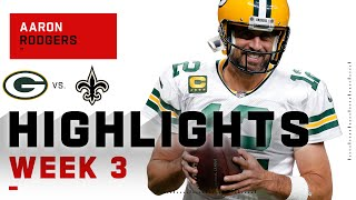 Aaron Rodgers Brushes Off Saints w/ 283 Passing Yds & 3 TDs | NFL 2020 Highlights