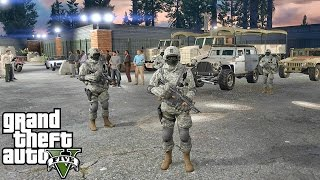 GTA 5 MODS - MILITARY PATROL - ZOMBIE APOCALYPSE 4 (GTA 5 PC POLICE MODS)