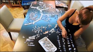 Ravensburger Astrology 9000 pieces puzzle - Time lapse