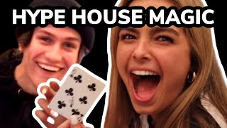 THE HYPE HOUSE REACTS TO MAGIC | Chase Hudson, Addison Rae, Alex Warren & More